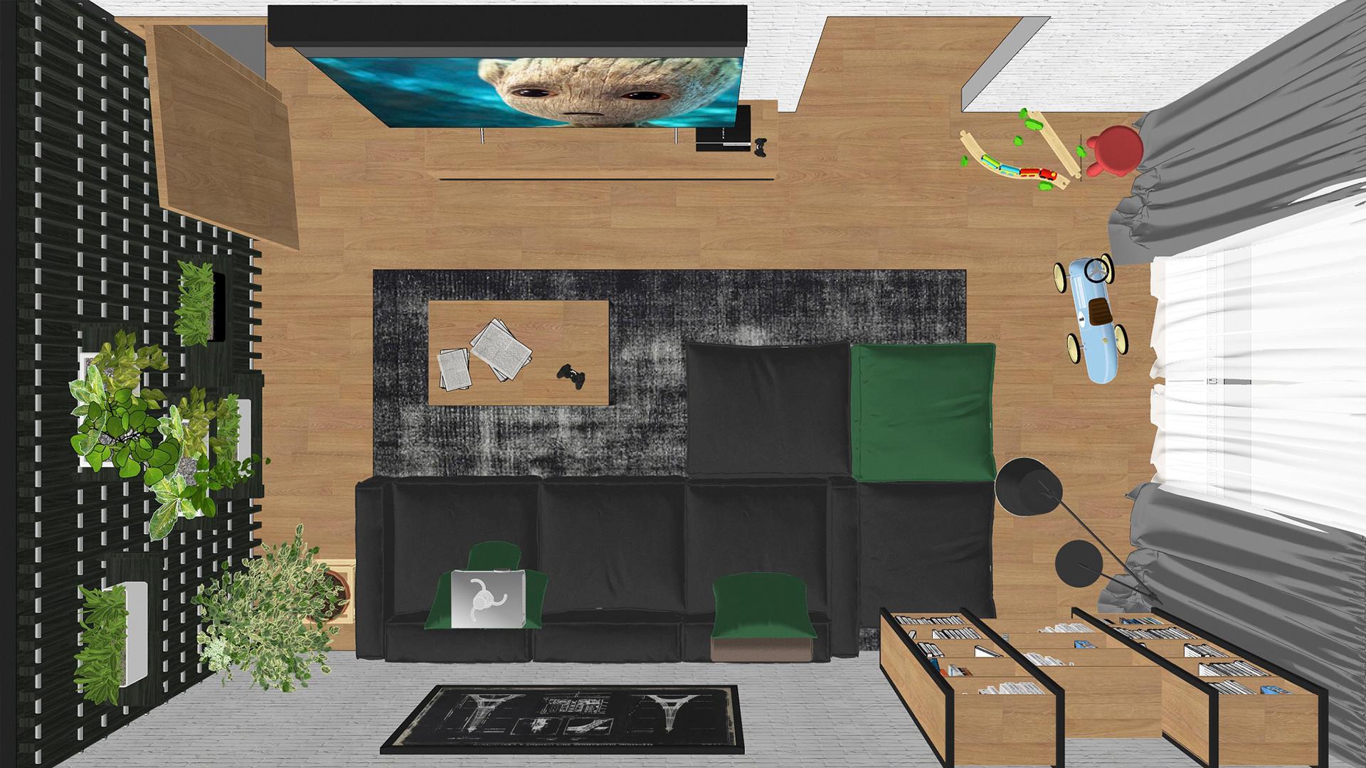 Architektonická štúdia obývačky