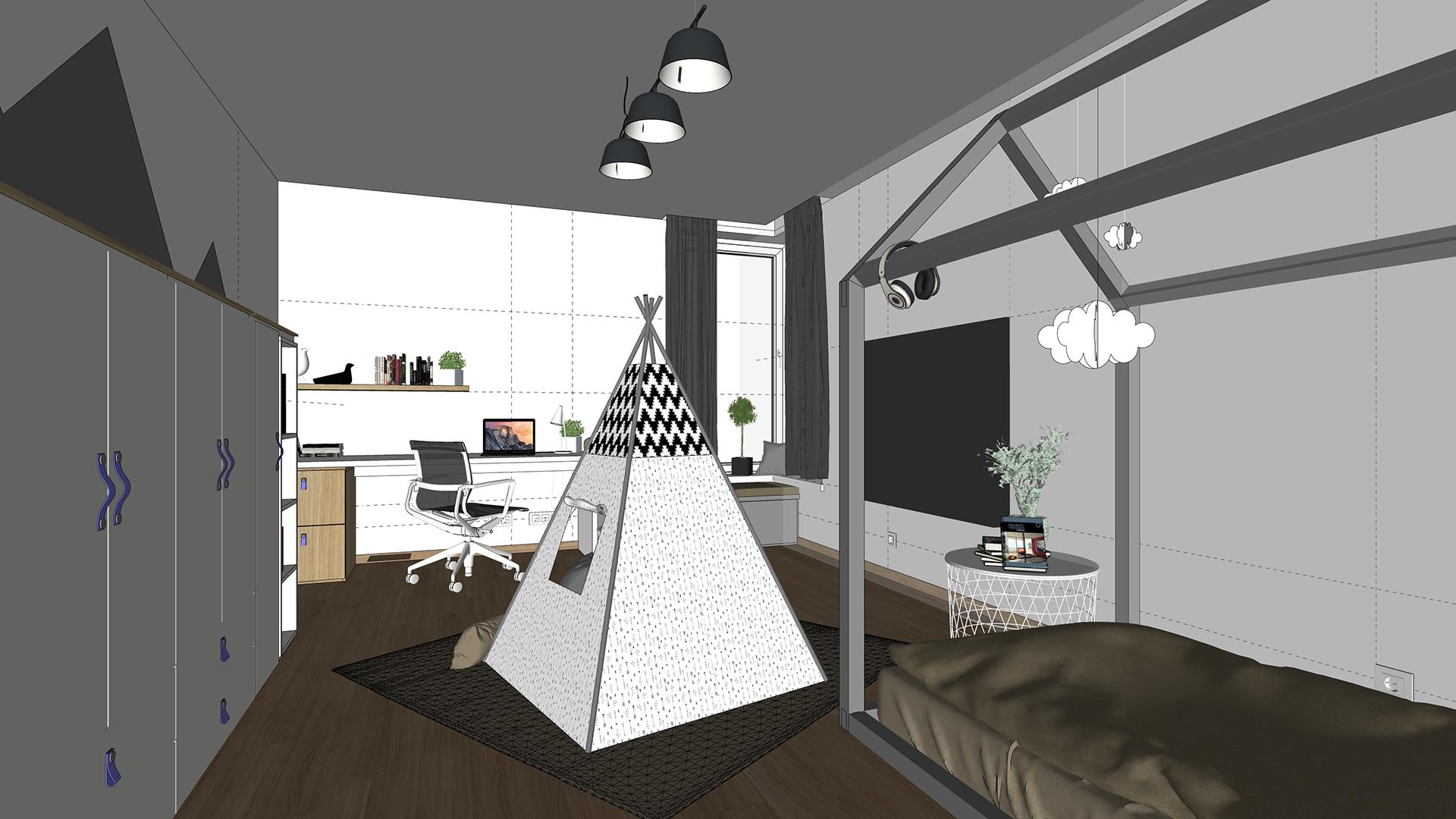 Architektonická štúdia detskej izby